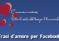 Frasi d'amore per facebook