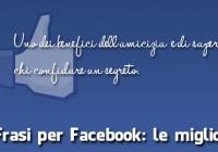 frasi per facebook migliori